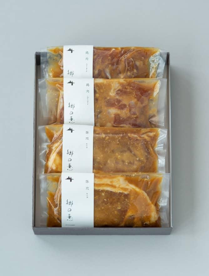 鶏肉&豚肉 味噌漬け 4パックセット