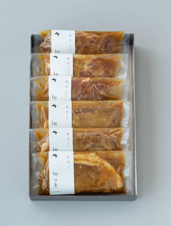 鶏肉&豚肉 味噌漬け 6パックセット